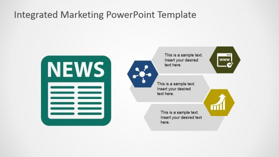 Newspaper Marketing Channel PowerPoint Shapes