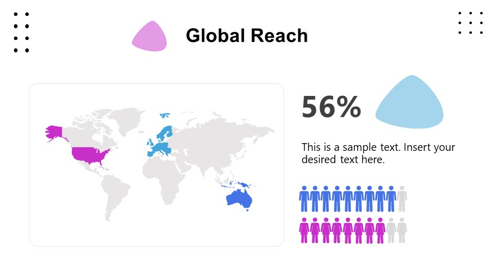 World Map Template for Business Global Reach
