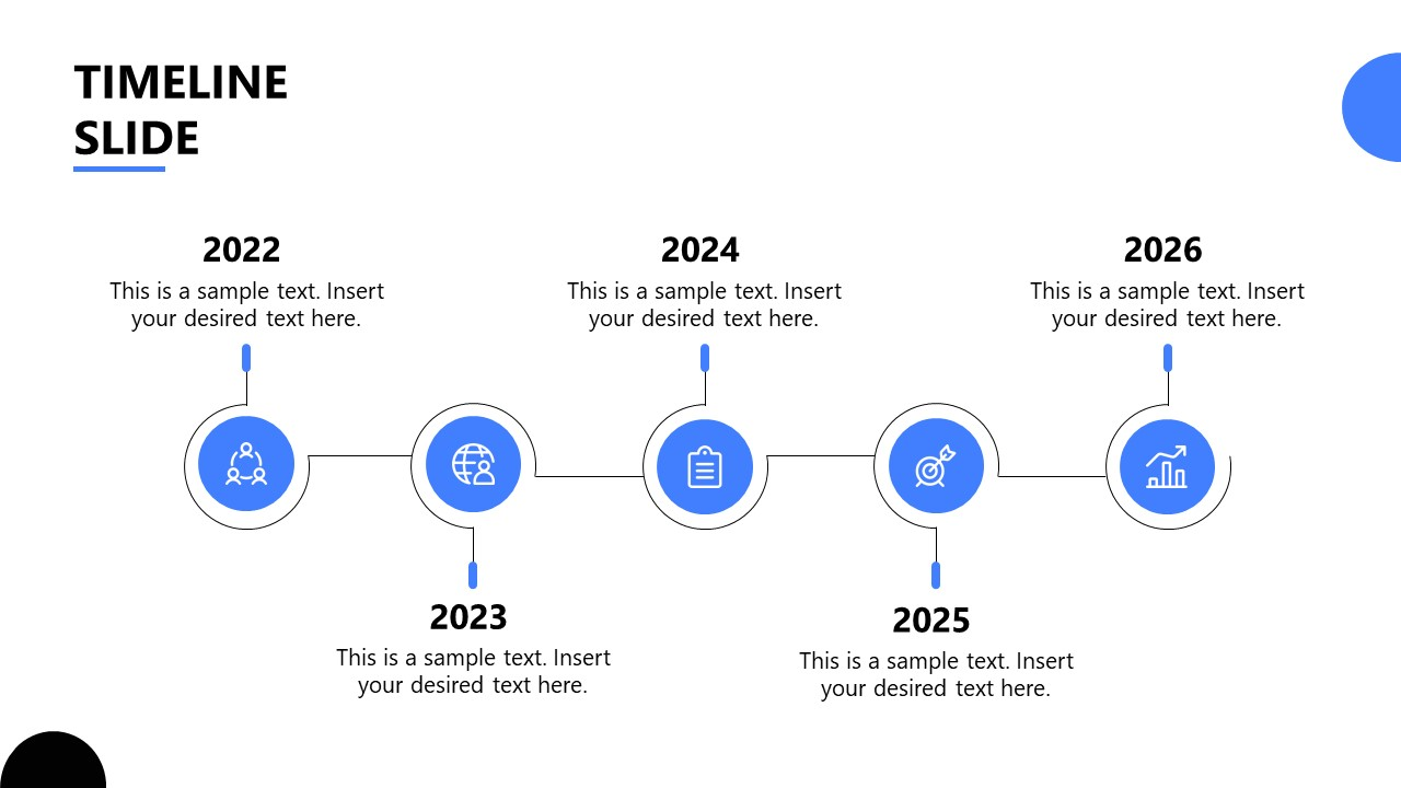 PowerPoint Template for Startup Horizontal Timeline