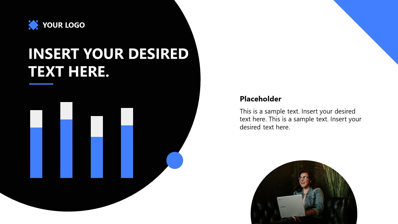 PowerPoint Template for Startup Data Chart
