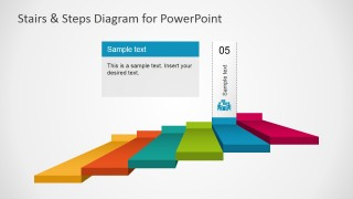 PowerPoint 6 Steps Stairs Diagram Business Step