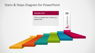 PowerPoint Flat Design Stairs Diagram