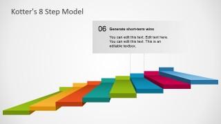 Editable 3D Slide of 8 Step Model