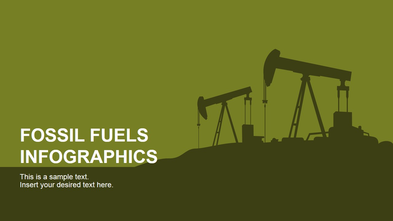 Fossil fuels infographics for powerpoint slidemodel powerpoint slide featuring oil pumps toneelgroepblik Gallery