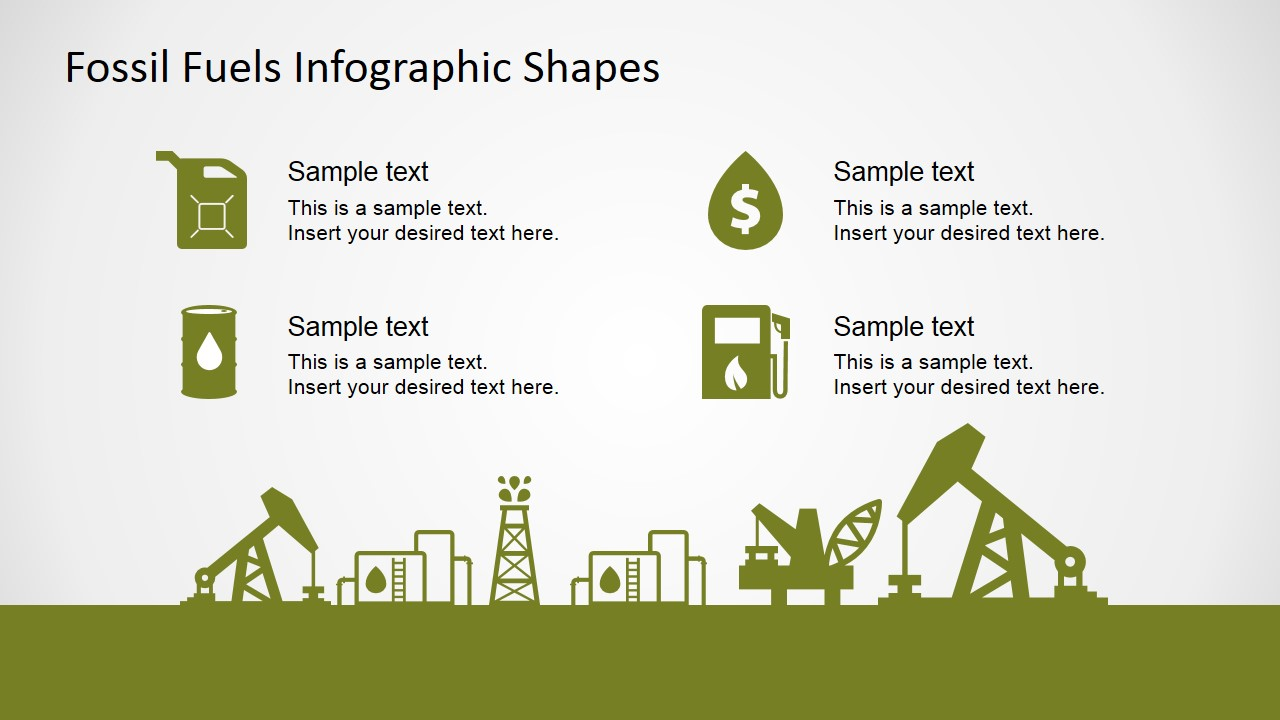oil and gas consumption powerpoint icons