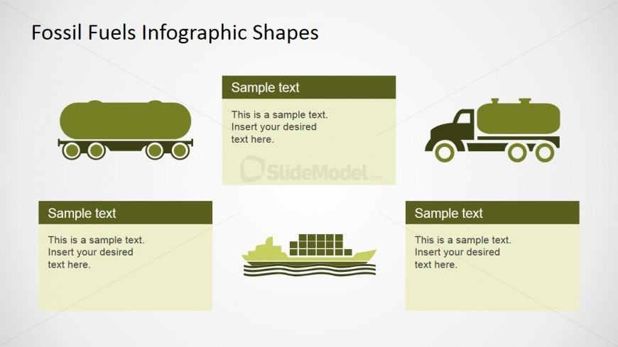 PowerPoint Oil and Gas Industry Logistics Shapes