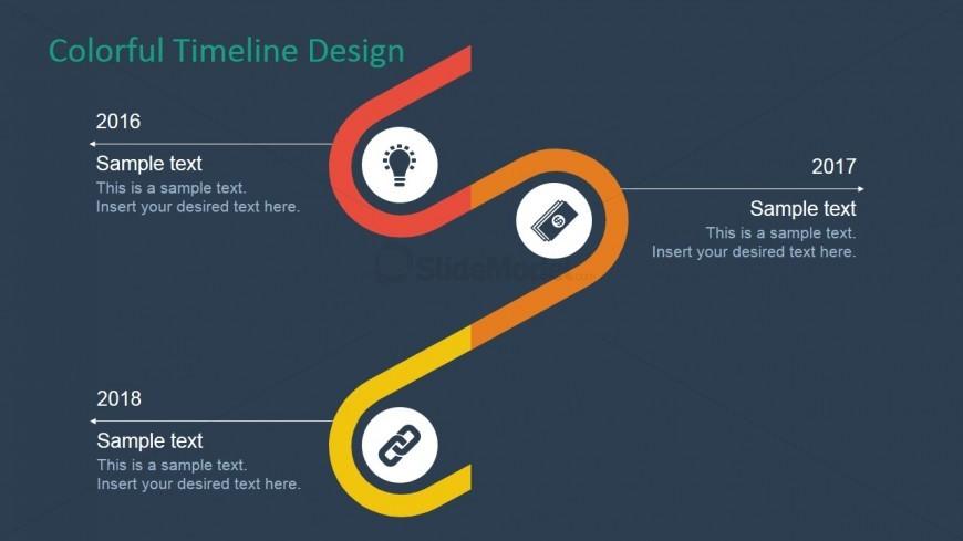 PowerPoint Timeline Three Milestones