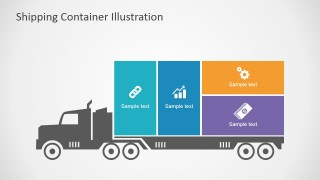 PowerPoint Truck Clipart Infographic
