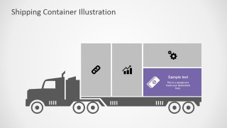 PowerPoint Transportation Infographic Money Step Highlighted