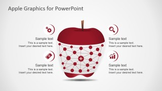 PowerPoint Graph Clipart within Apple Shape