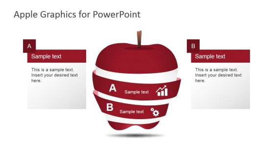 Two Segments Apple Shape for PowerPoint