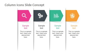 Column Icons Slide Concept for PowerPoint