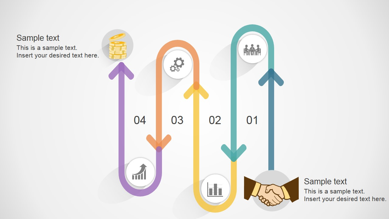 PowerPoint Diagram of Business Deal Process