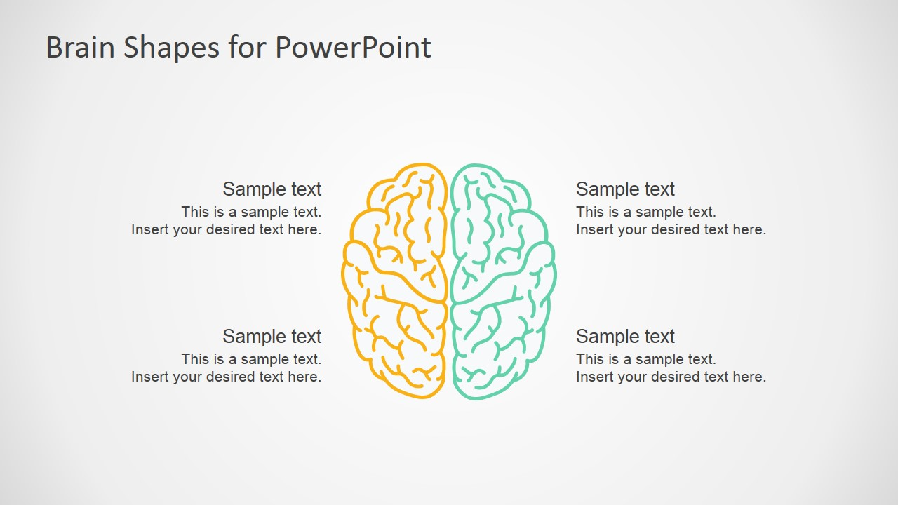 Brain Shapes Infographic For PowerPoint