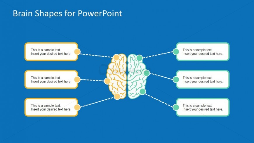 Head Brain Functions Template For PowerPoint