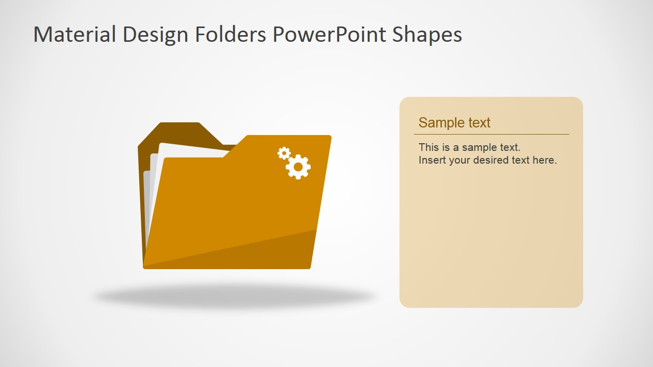 material design folders powerpoint shapes slidemodel