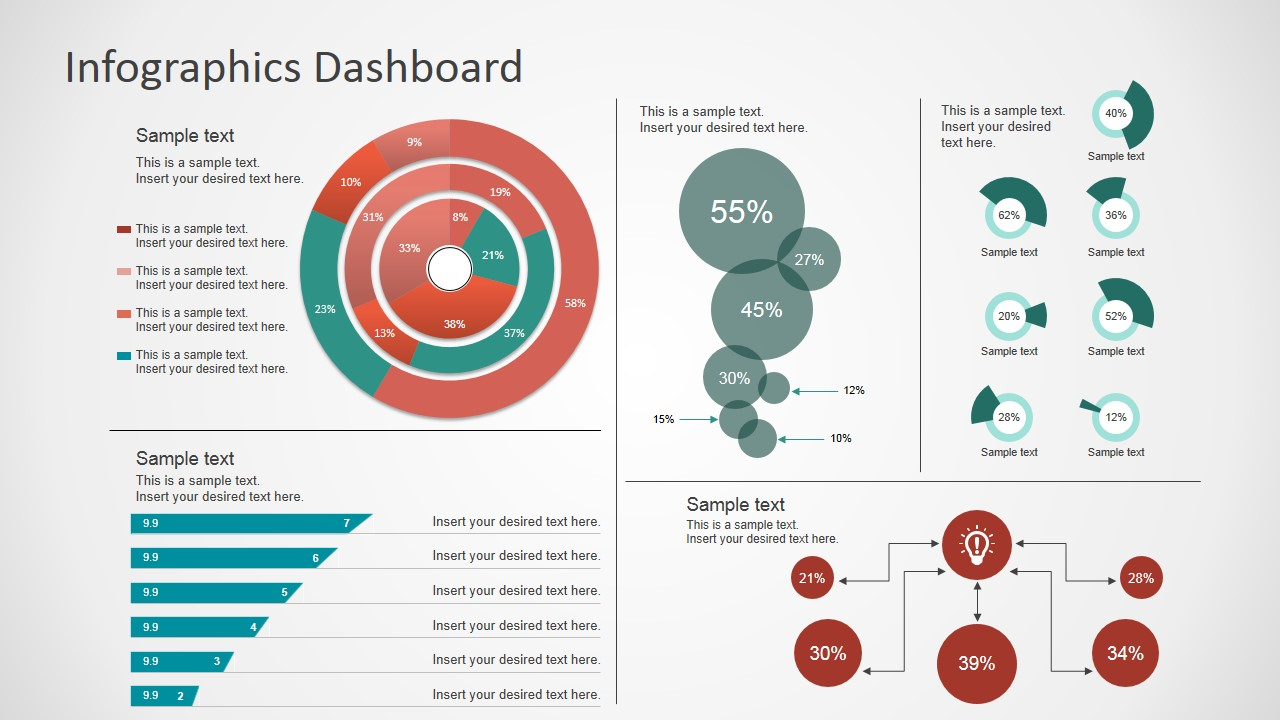 Simple Infographics Dashboard For Powerpoint Slidemodel