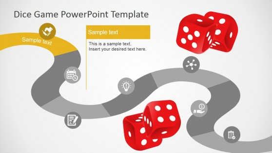 Dice Games Theme PowerPoint Template