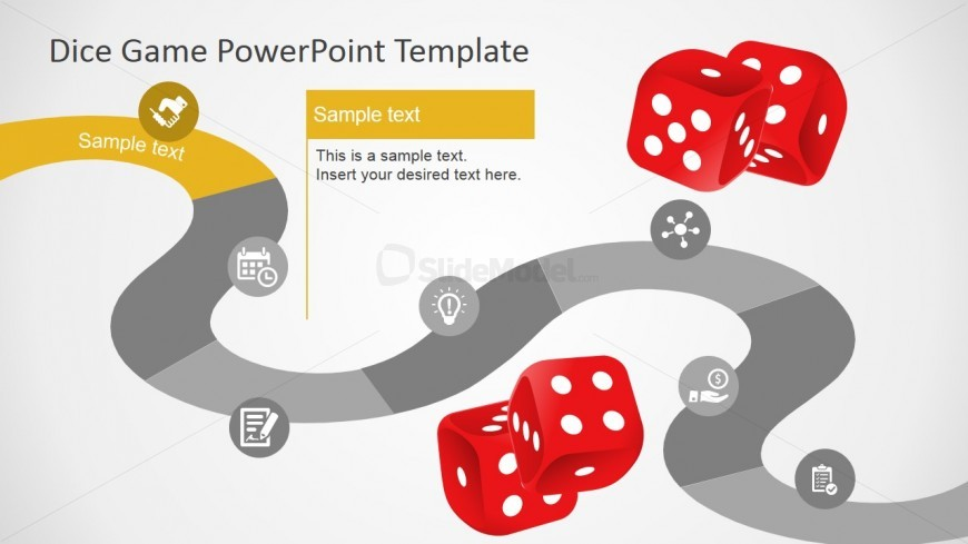 PowerPoint Timeline Inspired in Board Game