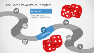 PowerPoint Timeline Design with Game Board Theme
