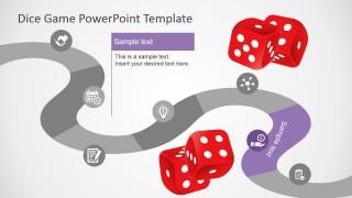 PowerPoint Timeline 7 Steps Board Game Design