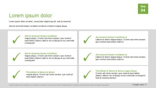 PowerPoint Presentation Template Checklist Layout