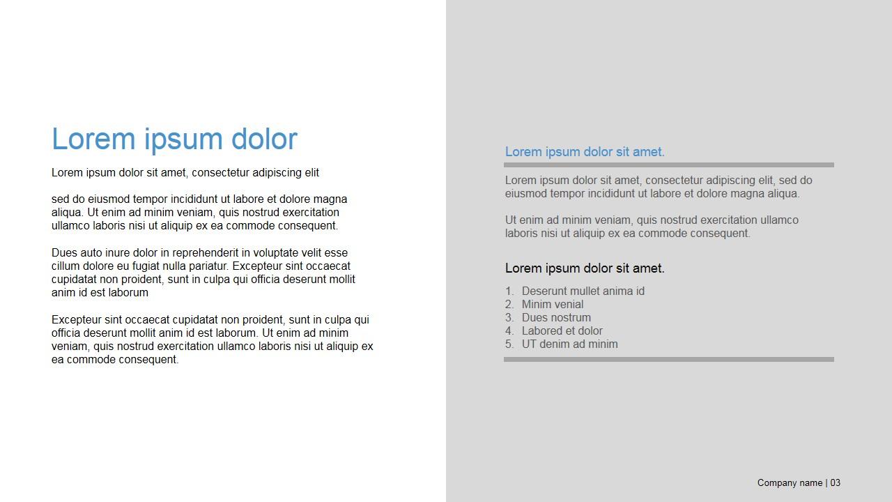 PowerPoint Business Deck Presentaiton Template Design