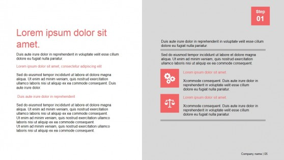 Presentation Template Section Slide Design for PowerPoint