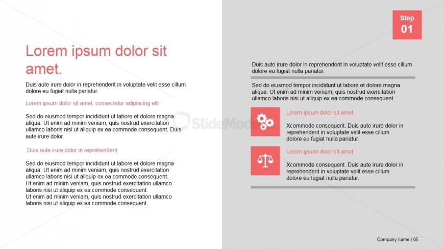 PowerPoint Section Design of Presentation Template