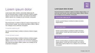 PowerPoint Presentation Template Description Section Design