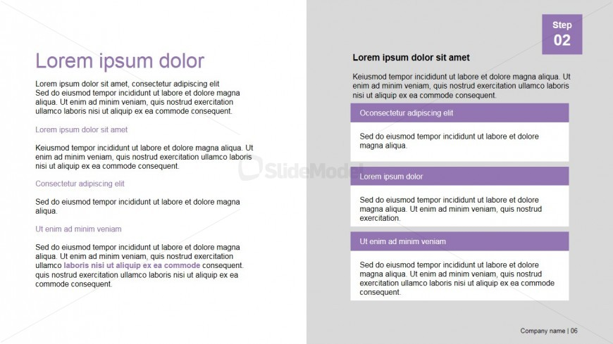 PowerPoint Presentation Template Description Section Design