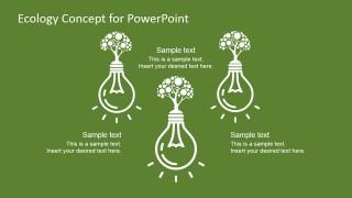 Three Light Bulb Concept Slide for PowerPoint