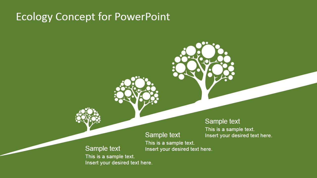 Ecology concept powerpoint template design slidemodel ecology circular diagram slide design organic growth slide design with tree illustrations in different sizes toneelgroepblik Choice Image