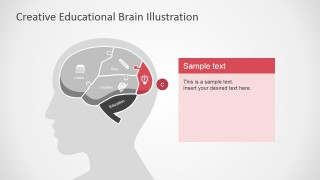 Lightbulb in Brain Slide for PowerPoint