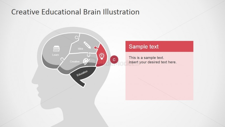 Lightbulb in Brain Slide for PowerPoint