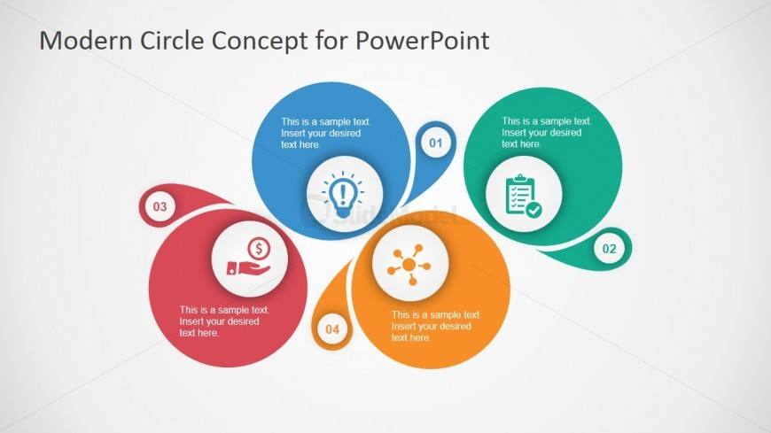 Four Steps Diagram Template for PowerPoint