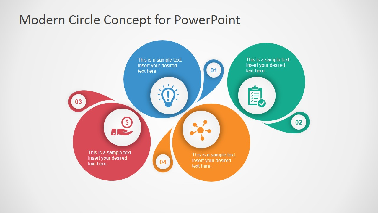 Modern circle concept design for powerpoint slidemodel for Table design ppt