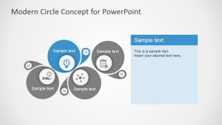 4 Steps Circle Diagrams for PowerPoint