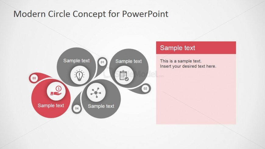 PowerPoint 4 Steps Diagram Clipart