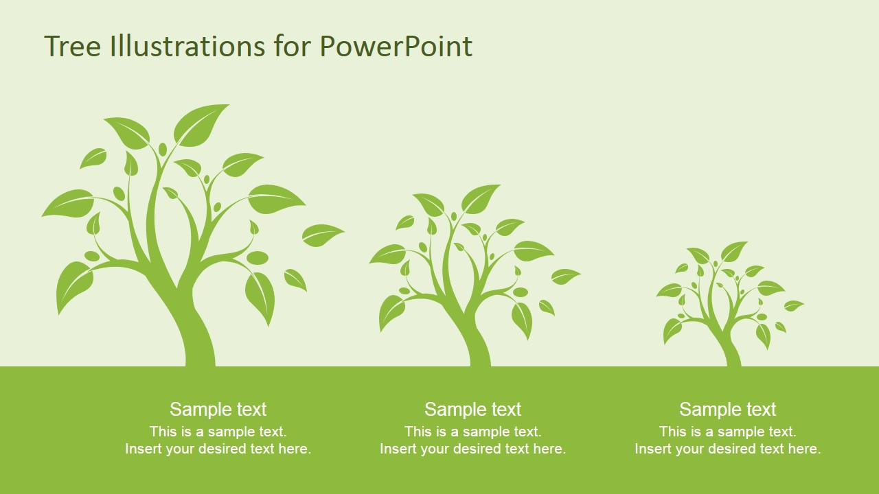 tree illustration diagrams for powerpoint - slidemodel, Powerpoint templates
