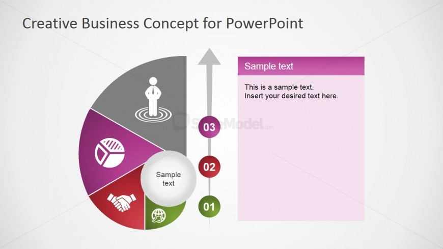 PowerPoint Shell Shape Four Steps Diagram