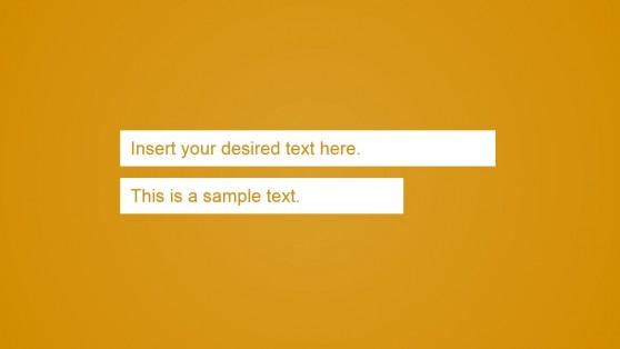 Orange Background Slide for Presentation