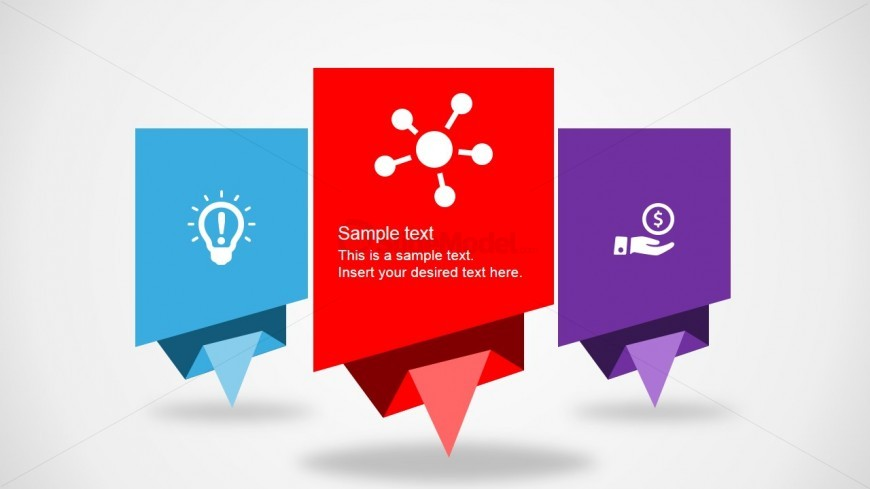 PowerPoint Dialog Boxes Featuring Origami Style