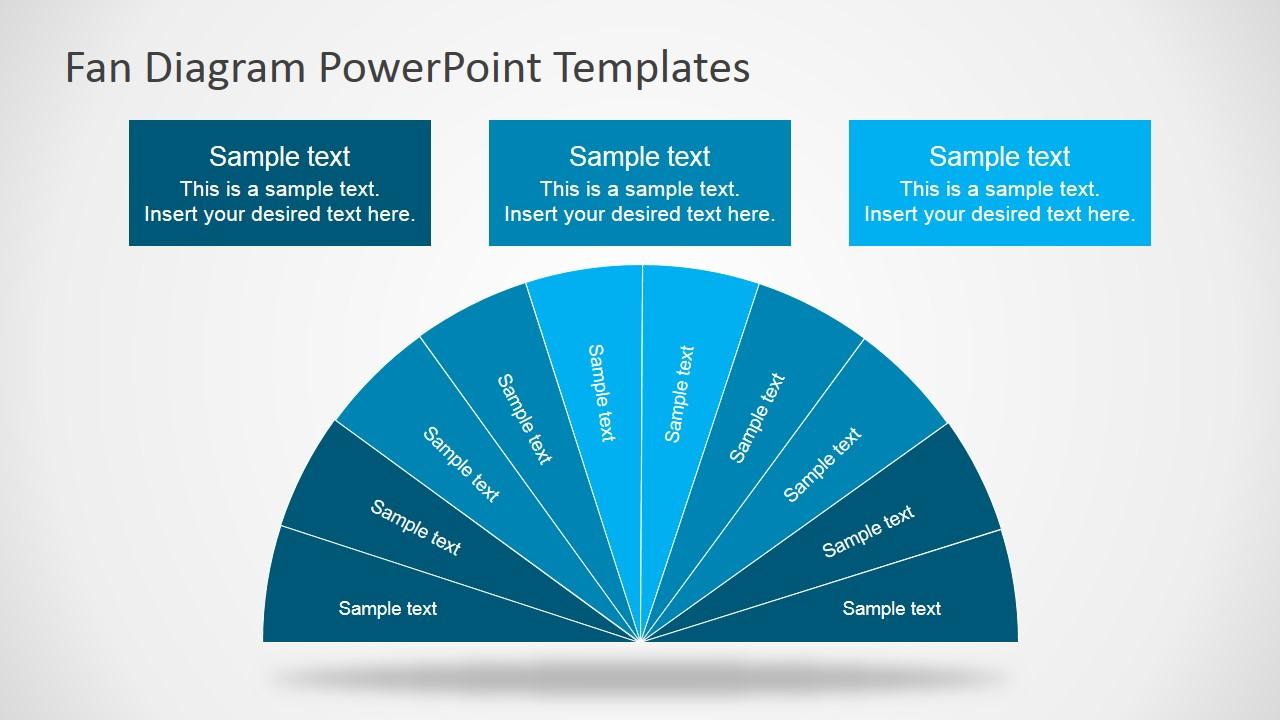 fan diagram design for powerpoint slidemodel. Black Bedroom Furniture Sets. Home Design Ideas