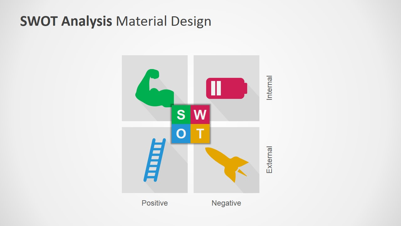 Swot analysis powerpoint template with material design swot matrix design for powerpoint toneelgroepblik Gallery