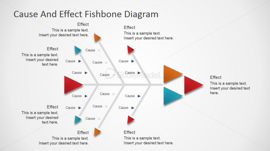 PowerPoint Fishbone Diagram with Arrow Designs