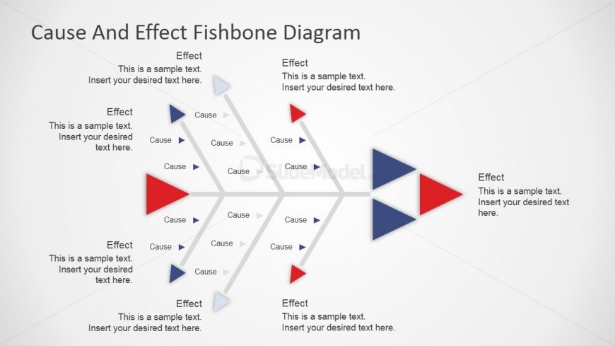 PowerPoint Arrows Fishbone Diagram
