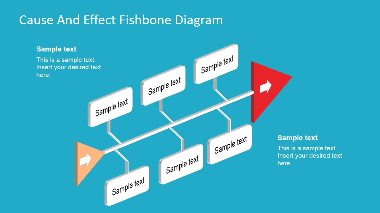 Fishbone Diagram Template 3D Perspective - SlideModel