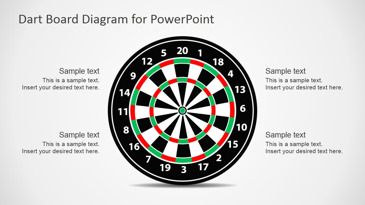 Dartboard Illustration for PowerPoint