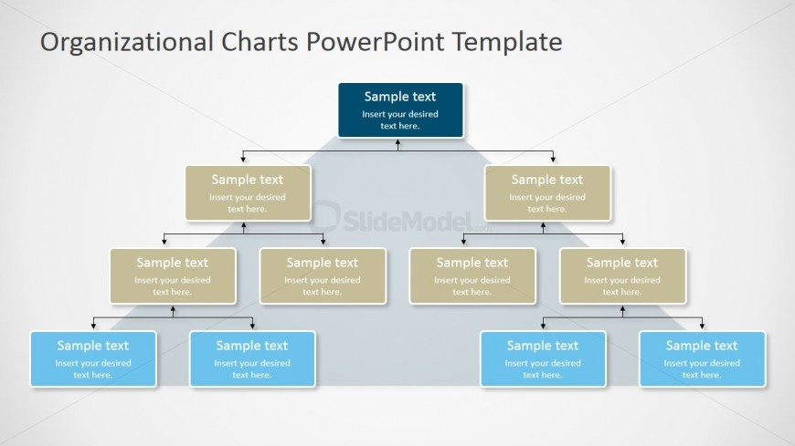 Pyramidal Org Chart For Powerpoint Slidemodel